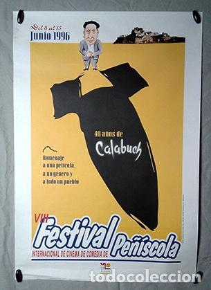 VIII FESTIVAL INTERNACIONAL DE CINE DE PEÑÍSCOLA. PEPE ISBERT, BERLANGA. 40 AÑOS DE CALABUIG. 1996 (Cine - Posters y Carteles - Clasico Español)