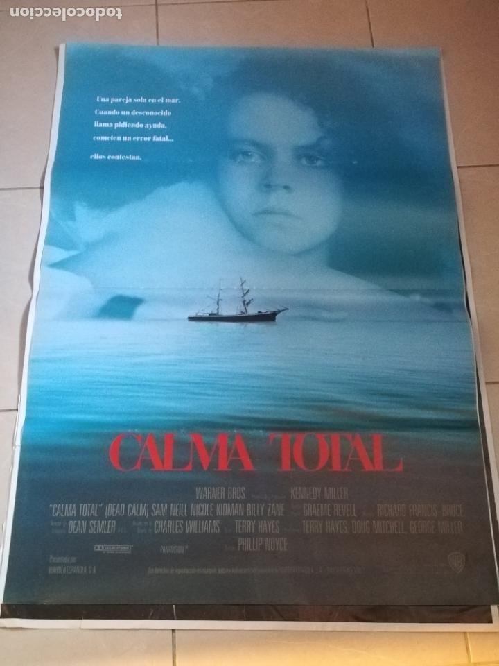 POSTER / CARTEL DE CINE ORIGINAL. CALMA TOTAL. SAM NEILL, NICOLE KIDMAN. 70 X 100 CM (Cine - Posters y Carteles - Suspense)
