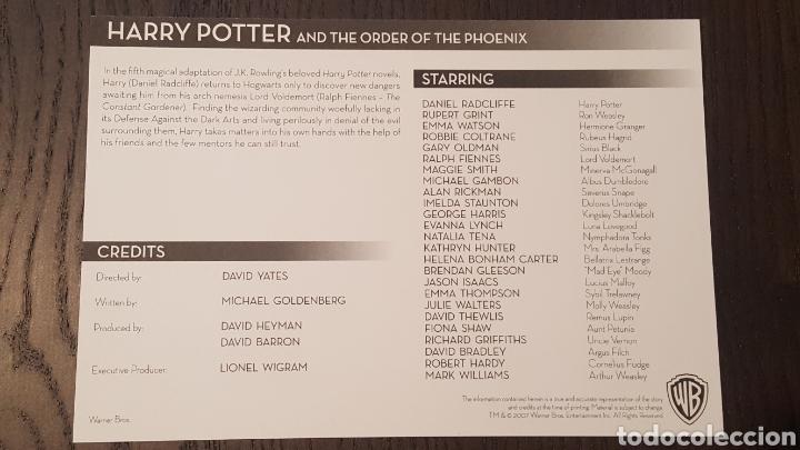 Cine: Postal promocional - Harry potter and the Order of Phoenix - Warner - 13,5 x 20 cm - Foto 2 - 252463560