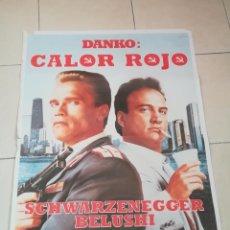 Cine: POSTER / CARTEL DE CINE ORIGINAL. DANKO: CALOR ROJO. ARNOLD SCHWARZENEGGER. 100 X 70CM.. Lote 252531325