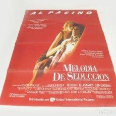 Cine: CARTEL DE LA PELÍCULA MELODÍA DE SEDUCCIÓN. AL PACINO. UNIVERSAL CITY STUDIOS. 1989.. Lote 252616995