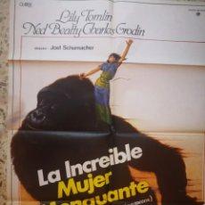 Cine: CARTEL POSTER DE CINE LA INCREÍBLE MUJER MENGUANTE. Lote 252714455