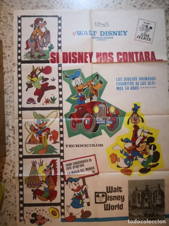 CARTEL POSTER DE CINE SI DISNEY NOS CONTARA (Cine - Posters y Carteles - Infantil)