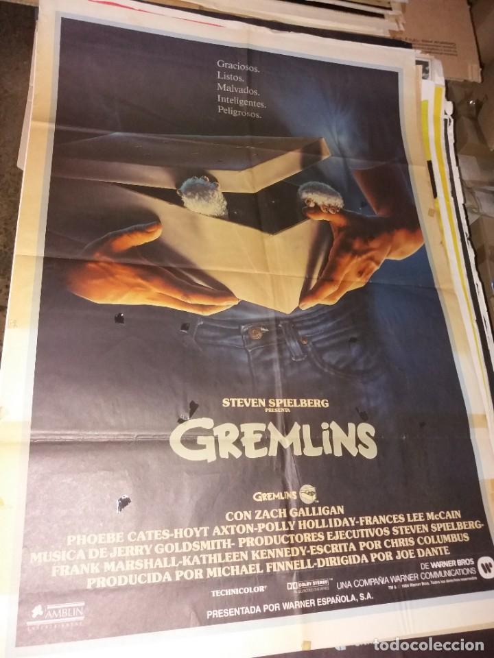 CARTEL ORIGINAL LOS GREMLINS (Cine - Posters y Carteles - Terror)