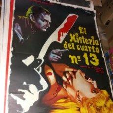 Cine: CARTEL EL MISTERIO DEL CUARTO NUMERO 13 ORIGINAL. Lote 253066070