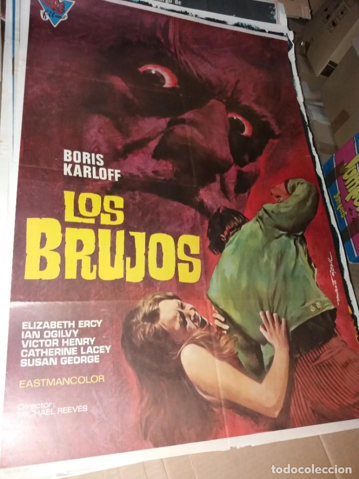LOS BRUJOS ( BORIS KARLOFF) CARTEL ORIGINAL (Cine - Posters y Carteles - Terror)