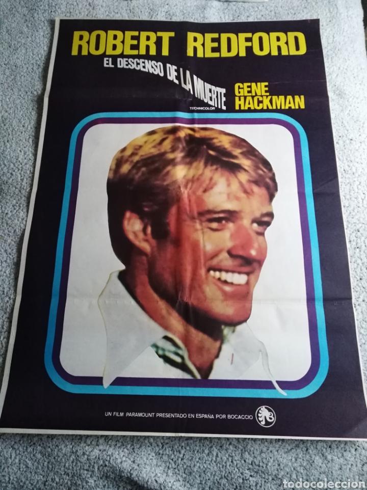 EL DESCENSO DE LA MUERTE ROBERT REDFORD GENE HACKMAN POSTER ORIGINAL 70X100 (Cine - Posters y Carteles - Deportes)