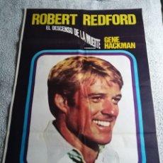 Cine: EL DESCENSO DE LA MUERTE ROBERT REDFORD GENE HACKMAN POSTER ORIGINAL 70X100. Lote 253289995