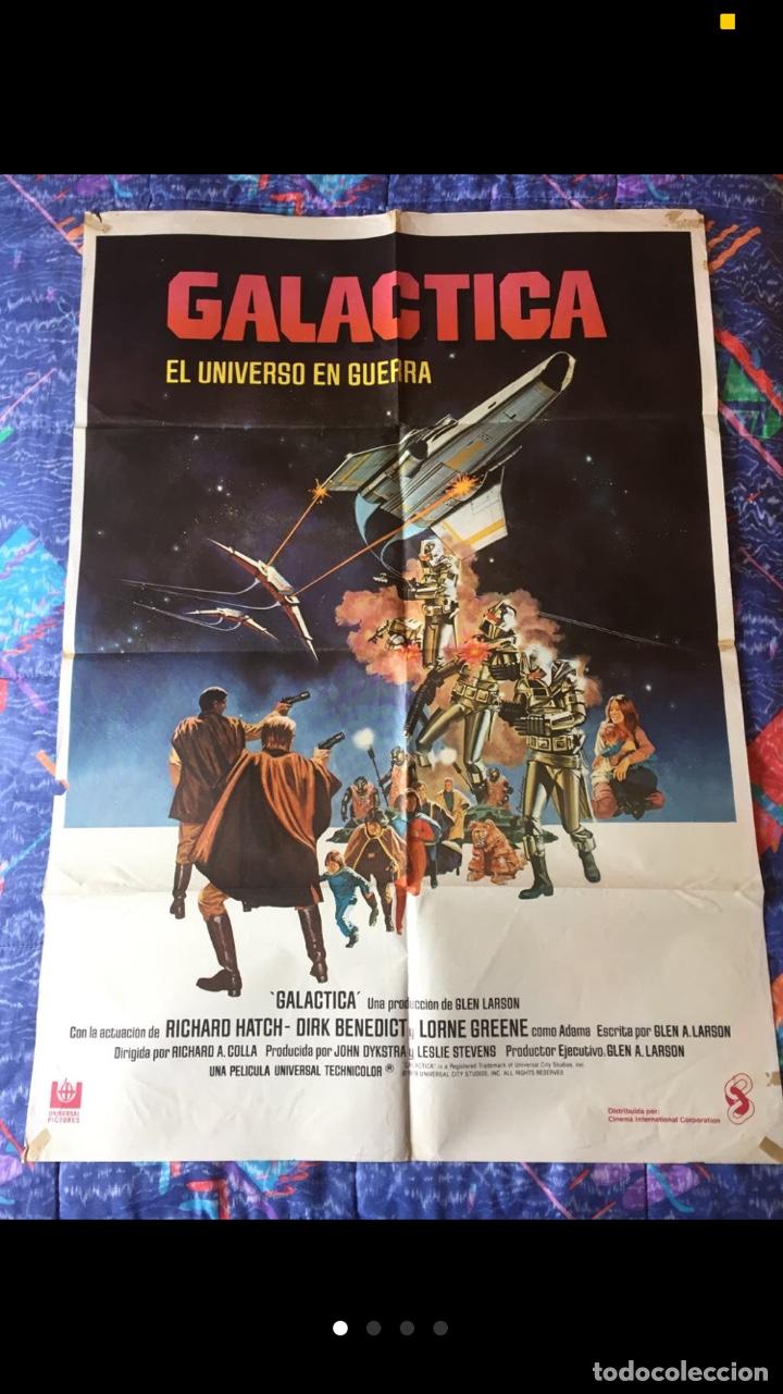 CARTELERA DE CINE DE LA SERIE GALÁCTICA (Cine - Posters y Carteles - Ciencia Ficción)