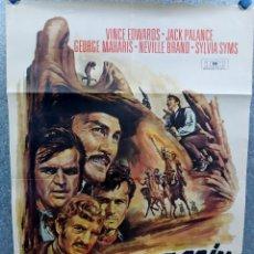 Cine: LA MARCA DE CAÍN. VINCE EDWARDS, SYLVIA SYMS, BENJAMIN EDNEY. AÑO 1983. POSTER ORIGINAL. Lote 253665050