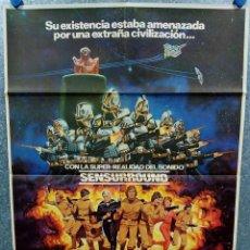 Cine: MISIÓN GALÁCTICA: CYLON ATACA. RICHARD HATCH, DIRK BENEDICT, LORNE GREENE AÑO 1979. POSTER ORIGINAL. Lote 253667225