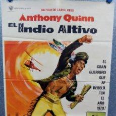 Cine: EL INDIO ALTIVO. ANTHONY QUINN, CLAUDE AKINS, TONY BILL. AÑO 1974. POSTER ORIGINAL. Lote 253670250