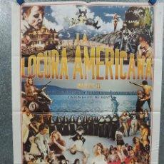 Cine: LA LOCURA AMERICANA. FANNE FOXE, ANIBAL O. LLERAS, ULLI LOMMEL AÑO 1980. POSTER ORIGINAL. Lote 254184085