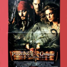 Cine: PIRATAS DEL CARIBE - EL COFRE DEL HOMBRE MUERTO - CARTEL DE CINE (PANTALLA 3) - 56 X 41 - NUEVO. Lote 103982951