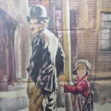 Cine: CHARLE CHAPLIN - CHARLOT - EL CHICO - 1921 - CARTEL ORIGINAL - 140 X 100 - ORTEGA VALENCIA. Lote 254208120