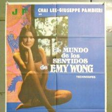 Cine: CDO 9968 EL MUNDO DE LOS SENTIDOS DE EMY WONG CHAI LEE ILONA STALLER POSTER ORIGINAL 70X100 ESTRENO. Lote 254272890