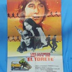 """Cine: GRAN CARTEL ORIGINAL DE CINE - PELÍCULA LOS ÚLTIMOS GOLPES DE """"EL TORETE"""" - JOSÉ A.DE LA LOMA 1980. Lote 254353755"""
