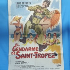 Cine: GRAN CARTEL ORIGINAL DE CINE - EL GENDARME DE SAINT - TROPEZ - LOUIS DE FUNES - 1980. Lote 254358915