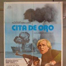 Cine: CDO 9970 CITA DE ORO RICHARD HARRIS DAVID JANSSEN POSTER ORIGINAL 70X100 ESTRENO. Lote 254397015