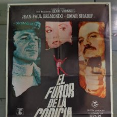 Cine: CDO 9971 EL FUROR DE LA CODICIA JEAN-PAUL BELMONDO OMAR SHARIFF POSTER ORIGINAL 70X100 ESTRENO. Lote 254399110