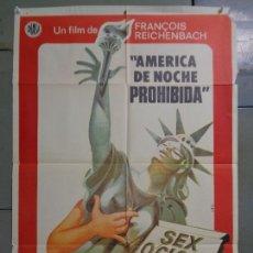 Cine: CDO 9980 AMERICA DE NOCHE PROHIBIDA SEX O'CLOCK USA REICHENBACK POSTER ORIGINAL ESTRENO 70X100. Lote 254406565