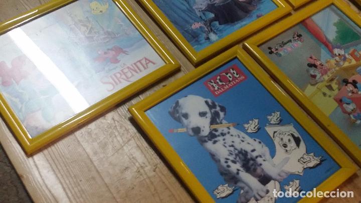 Cine: 9 pequeños cuadros de carteles de Disney enmarcados, sirenita,aladin, 101 dalmatas... - Foto 2 - 254408565