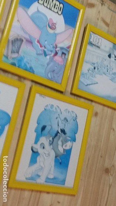 Cine: 9 pequeños cuadros de carteles de Disney enmarcados, sirenita,aladin, 101 dalmatas... - Foto 5 - 254408565