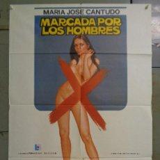 Cine: CDO 9982 MARCADA POR LOS HOMBRES MARIA JOSE CANTUDO POSTER ORIGINAL 70X100 ESTRENO. Lote 254415690