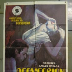 Cine: CDO 9989 PERVERSION NADIUSKA CARLOS ESTRADA POSTER ORIGINAL 70X100 ESTRENO. Lote 254420965