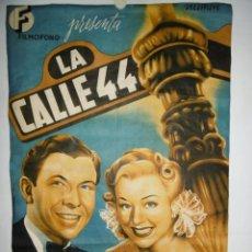 Cine: LA CALLE 44 - 100 X 70 - LITOGRAFICO. Lote 254481700