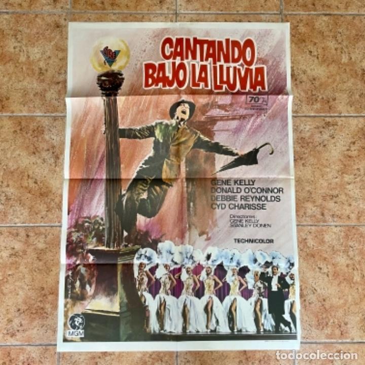 100X70 CANTANDO BAJO LA LLUVIA, CARTEL DE CINE (Cine - Posters y Carteles - Musicales)