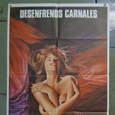 Cine: CDO K046 DESENFRENOS CARNALES SEXPLOITATION ROXANA CASKAN SEXY POSTER ORIGINAL 70X100 ESTRENO. Lote 254549215