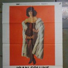 Cine: CDO K059 EL PLACER THE BITCH JOAN COLLINS SEXY EROTIC POSTER ORIGINAL 70X100 ESTRENO. Lote 254575125