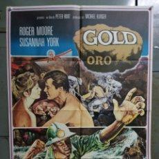 Cine: CDO K193 ORO GOLD ROGER MOORE SUSANNAH YORK RAY MILLAND POSTER ORIGINAL ESPAÑOL 70X100 ESTRENO. Lote 254577360