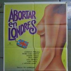 Cine: CDO K061 ABORTAR EN LONDRES VIRGINIA MATAIX PEDRO MARI SANCHEZ PERCEVAL POSTER ORIG ESTRENO 70X100. Lote 254578325
