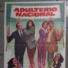 Cine: CDO K062 ADULTERIO NACIONAL CHARO LOPEZ AZUCENA HERNANDEZ POSTER ORIGINAL ESTRENO 70X100. Lote 254579115