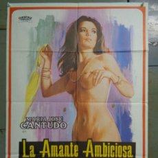 Cine: CDO K063 LA AMANTE AMBICIOSA MARIA JOSE CANTUDO AJITA WILSON POSTER ORIGINAL 70X100 ESTRENO. Lote 254581580