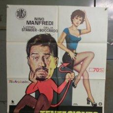 Cine: CDO K176 LAS TENTACIONES DE BENEDETTO NINO MANFREDI DELIA BOCCARDO POSTER ORIGINAL 70X100 ESTRENO. Lote 254582460