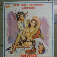 Cine: CDO K066 VIRGO TAURO Y CAPRICORNIO EDWIGE FENECH POSTER ORIGINAL ESTRENO 70X100. Lote 254585075