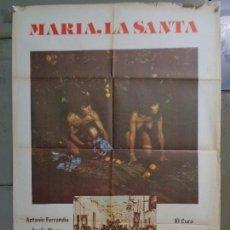 Cine: CDO K068 MARIA LA SANTA ISELA VEGA PATRICIA ADRIANI ANTONIO FERRANDIS POSTER ORIGINAL ESTRENO 70X100. Lote 254587870