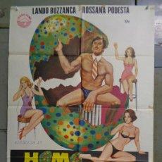 Cine: CDO K079 HOMO EROTICUS LANDO BUZZANCA ROSSANA PODESTA SEXY POSTER ORIGINAL 70X100 ESTRENO. Lote 254606320