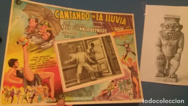 LOBY CARD CANTANDO BAJO LA LLUVIA ORIGINAL (Cine - Posters y Carteles - Musicales)