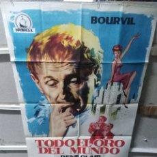 Cine: TODO EL ORO DEL MUNDO BOURVIL POSTER ORIGINAL 70X100 YY (2620). Lote 254748760