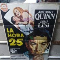 Cine: LA HORA 25 ANTHONY QUINN VIRNA LISI POSTER ORIGINAL 70X100 YY (2625). Lote 254750110