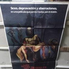 Cine: LOS RITOS SEXUALES DEL DIABLO JOSE RAMON LARRAZ HELGA LINE POSTER ORIGINAL 70X100 YY (2627). Lote 254750605