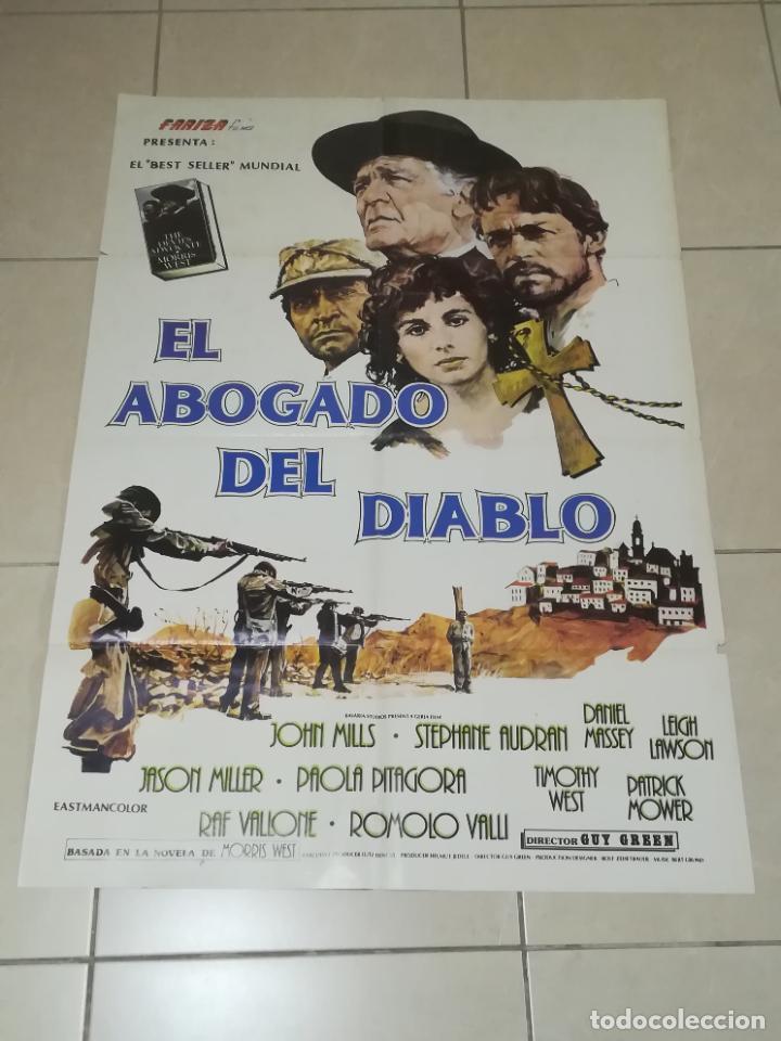 POSTER / CARTEL DE CINE ORIGINAL. EL ABOGADO DEL DIABLO. JOHN MILLS. 100 X 70CM. (Cine - Posters y Carteles - Acción)
