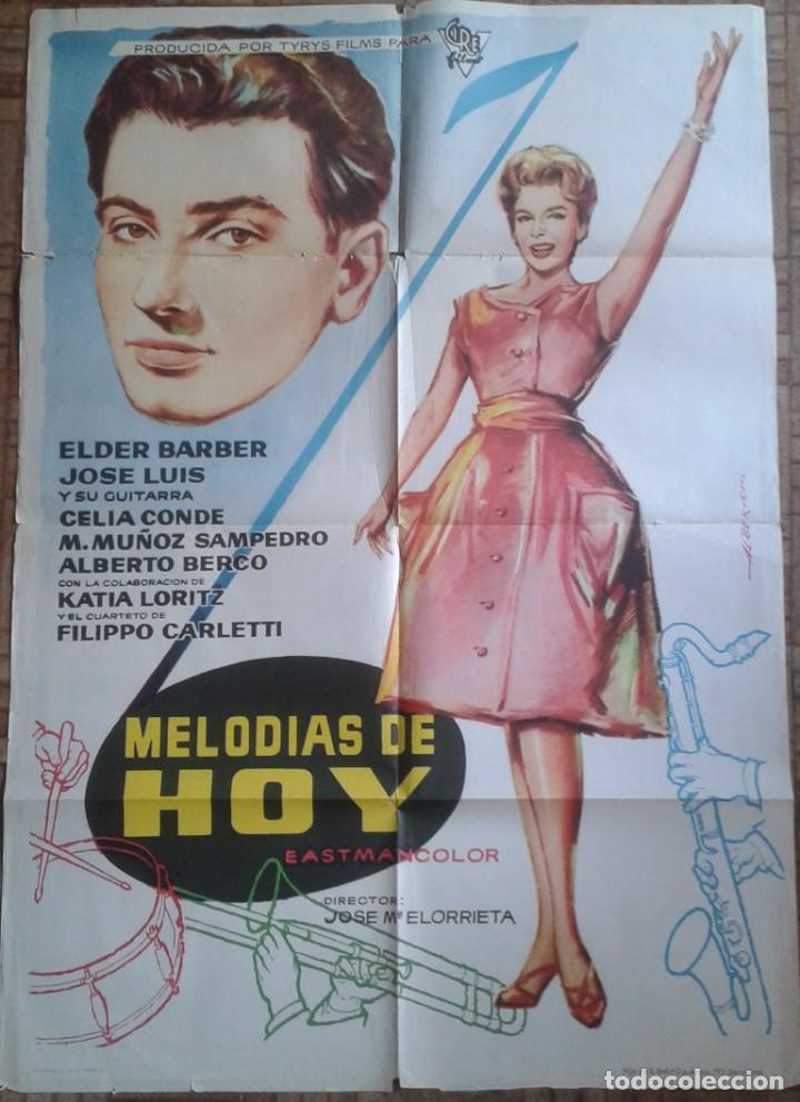 MELODÍAS DE HOY. CARTEL ESTRENO 70X100CM. ELDER BARBER (Cine - Posters y Carteles - Musicales)