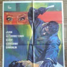 Cine: AGONIZANDO EN EL CRIMEN. CARTEL ESTRENO 70X100CM. ENRIQUE L. EGUILUZ.. Lote 254901065