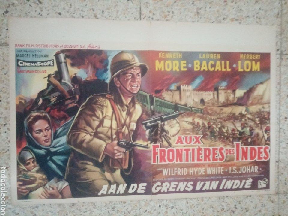 CARTEL ORIGINAL BELGA LAUREN BACALL, KENNETH MORE (Cine - Posters y Carteles - Bélicas)
