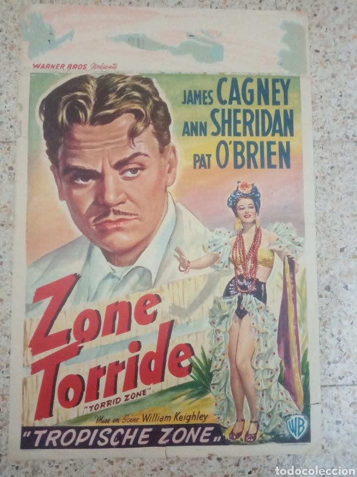 CARTEL ORIGINAL BELGA JAMES CAGNEY, ANN SHERIDAN (Cine- Posters y Carteles - Drama)